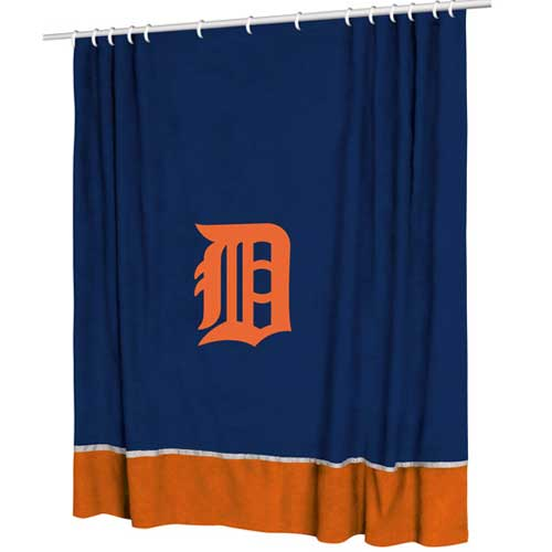 Detroit Tigers Mlb Microsuede Shower Curtain
