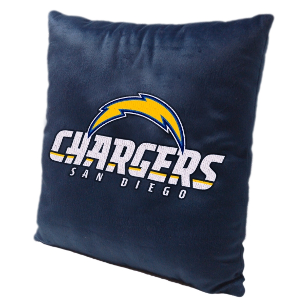 "San Diego Chargers Chair: San Diego Chargers NFL 16"" Embroidered Plush Pillow With"
