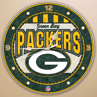 Green Bay Packers Nfl 12 Quot Round Art Glass Wall Clock