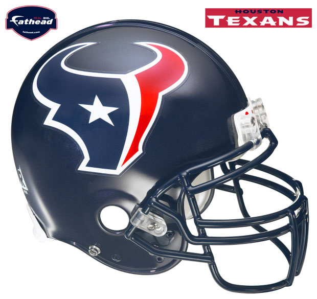 Houston Texans Helmet Fathead NFL Wall Graphic - FamilyBedding.com