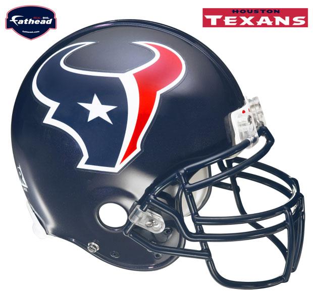 Houston Texans Helmet Fathead Nfl Wall Graphic