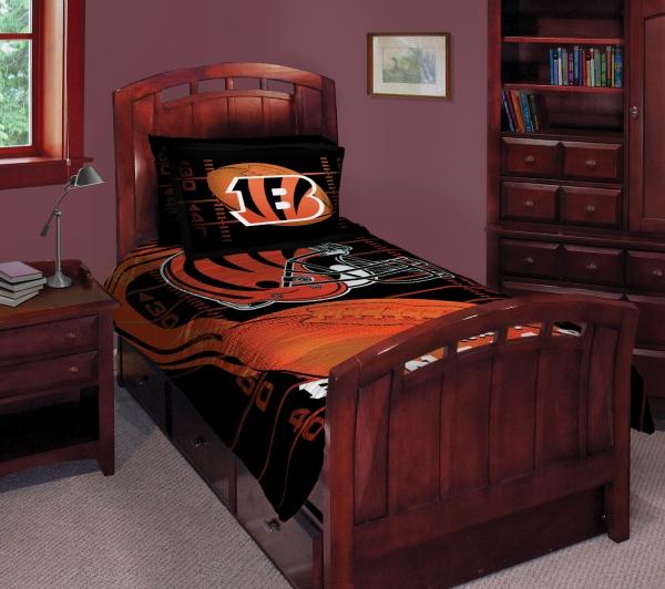cincinnati bengals nfl twin comforter set 63 x 86