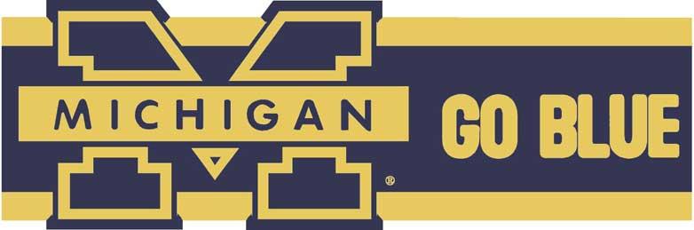 Michigan Wolverines 7 Quot Tall Die Cut Wallpaper Border