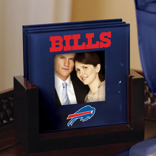 Buffalo Bills Nfl Art Glass Photo Frame Coaster Set