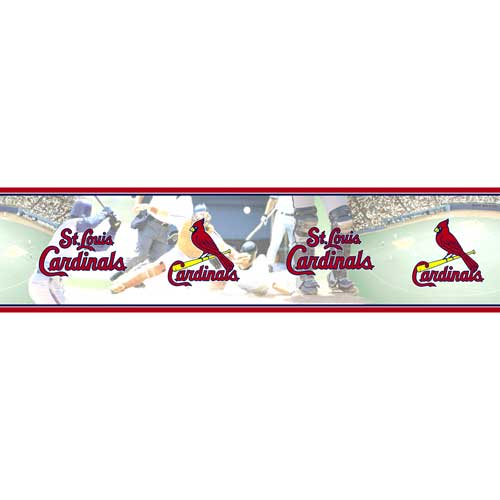 St Louis Cardinals MLB Wall Border