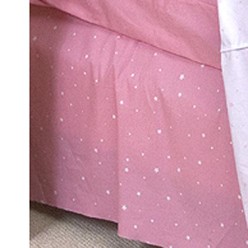 Dance On Full Size Bedskirt Pink