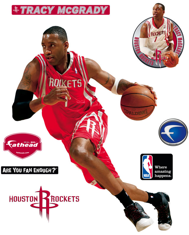 Tracy Mcgrady Fathead Nba Wall Graphic