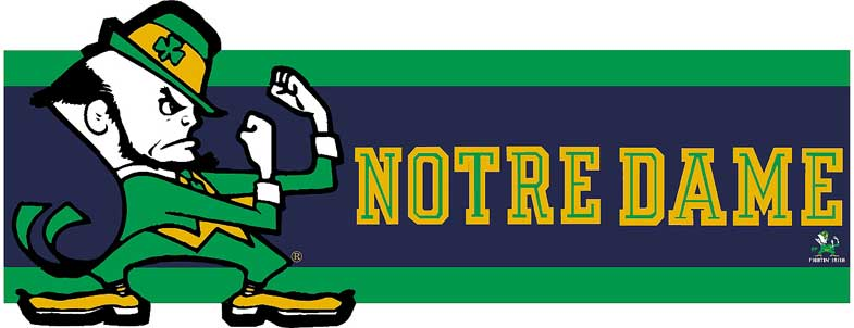 Notre Dame Fighting Irish 7 Quot Tall Die Cut Wallpaper Border