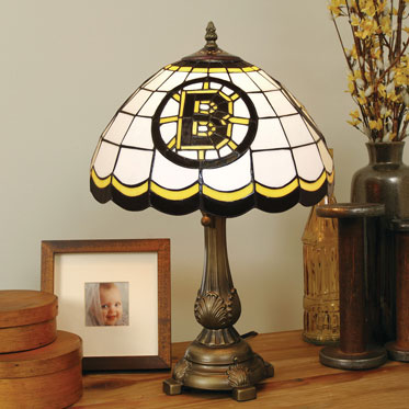 Boston bruins nhl stained glass tiffany table lamp Bruins room decor