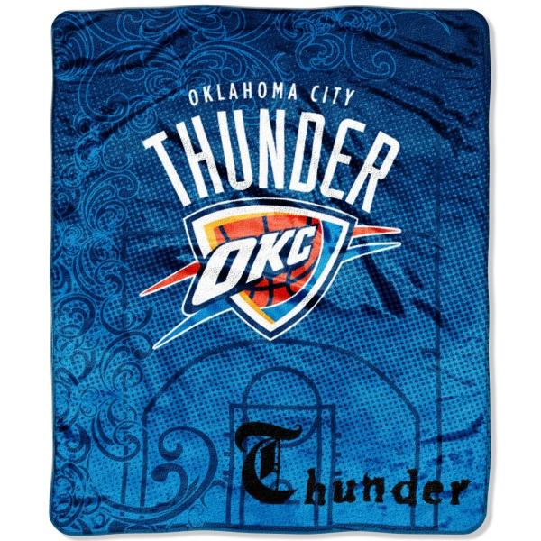 "Okc Thunder Bedroom Decor: Oklahoma City Thunder NBA Micro Raschel Blanket 50"" X 60"""