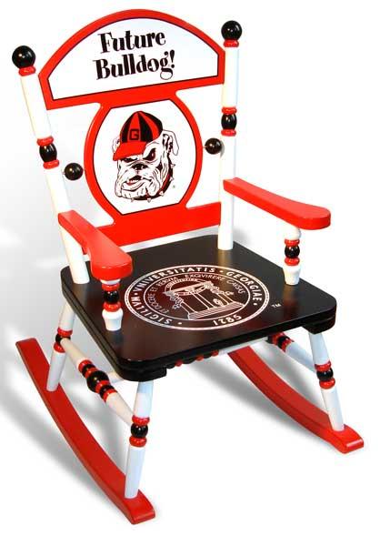 University Of Georgia Bulldogs Rocking Chair