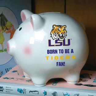 Lsu Louisiana State Tigers Ncaa College Ceramic Piggy Bank