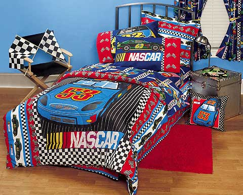 Nascar Fast Track Full Comforter / Sheet Set