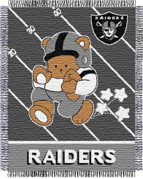 Oakland Raiders Nfl Baby 36 Quot X 46 Quot Triple Woven Jacquard Throw