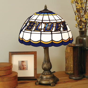 St Louis Blues Nhl Stained Glass Tiffany Table Lamp
