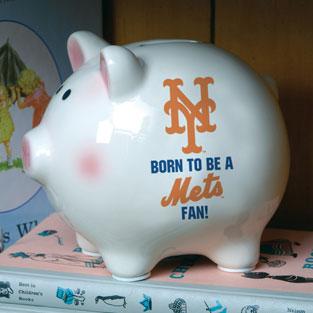 New York Mets Mlb Ceramic Piggy Bank