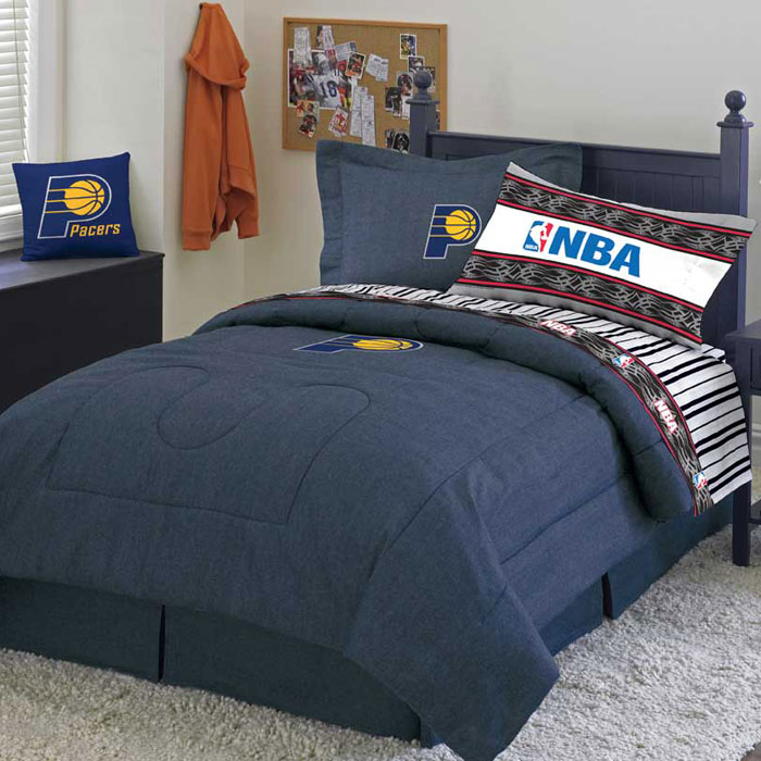 Indiana Pacers Twin Size Sheets Set