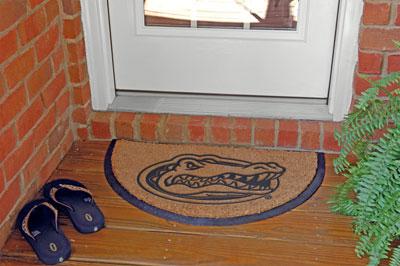 Florida Gators Ncaa College Half Moon Outdoor Door Mat