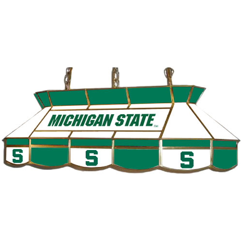 Michigan State Spartans Teardrop Stained Glass Billiard Light