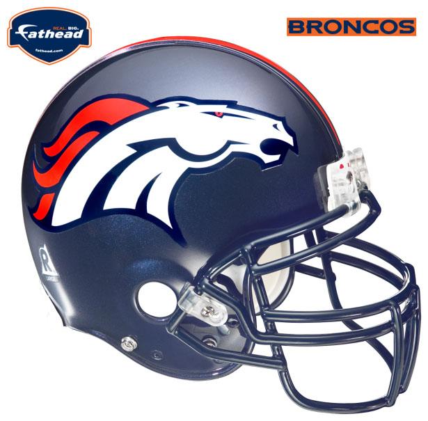 Denver Broncos Helmet Fathead Nfl Wall Graphic