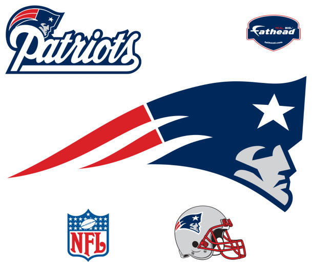 New England Patriots Logo Fathead Nfl Wall Graphic