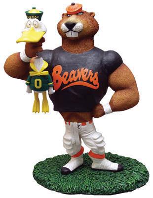 Oregon State Beavers Ncaa College Rivalry Mascot Figurine