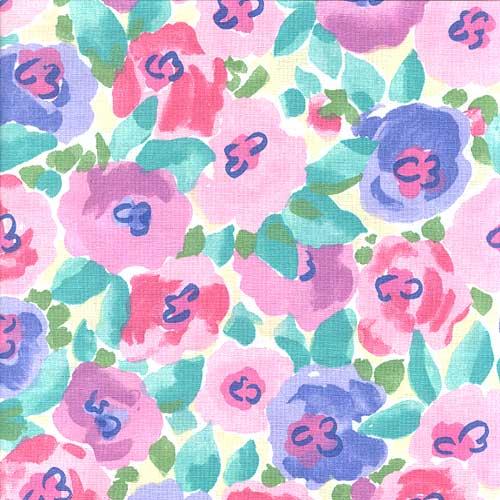 Sheet Set Posies Pink Floral Print