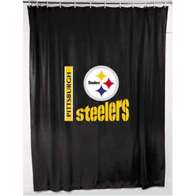 Pittsburgh Steelers Locker Room Shower Curtain