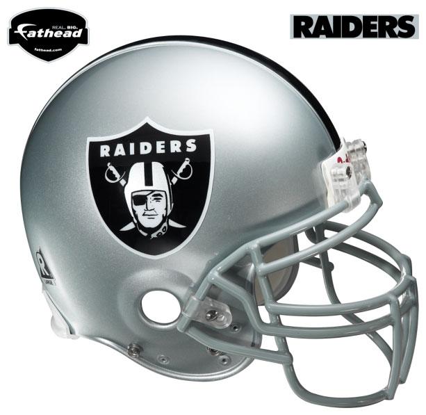 Oakland Raiders Helmet Fathead Nfl Wall Graphic