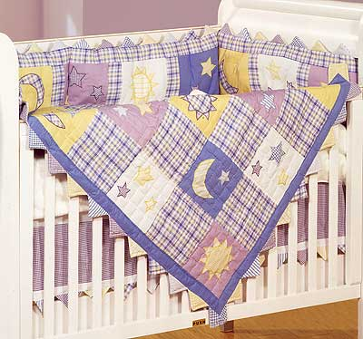 Twinkle Twinkle 4 Piece Crib Quilt Set