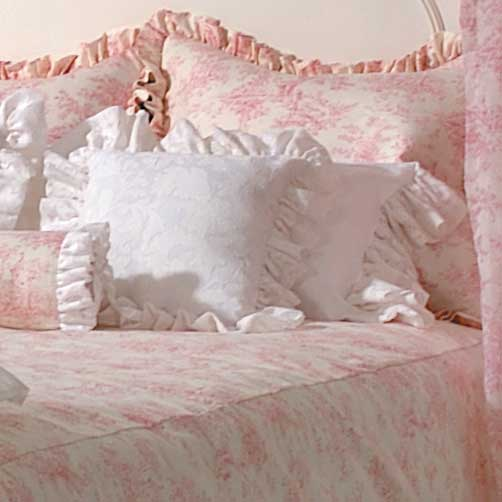 Isabella Pink Toile Soft Style Full Queen Bolster