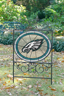 Philadelphia Eagles Nfl Stained Glass Outdoor Yard Sign