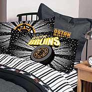 Boston bruins pillow case for Bruins bedroom ideas