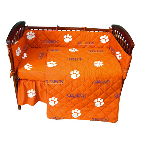 Ncaa Clemson Tigers Full Bed Set Orange Cotton Bedding: Clemson Tigers Crib Bed In A Bag