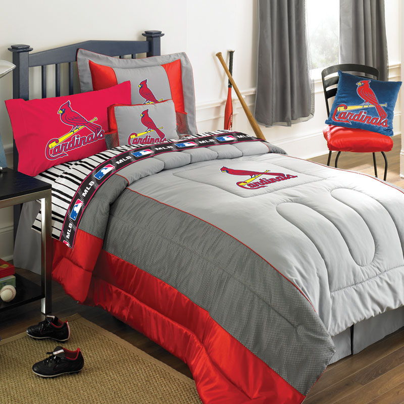 St Louis Cardinals MLB Authentic Jersey Bedding Queen Size Comforter Sheet