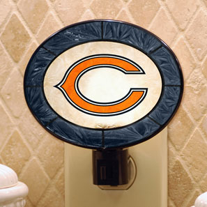 Miraculous Chicago Bears Nfl Art Glass Nightlight Ocoug Best Dining Table And Chair Ideas Images Ocougorg