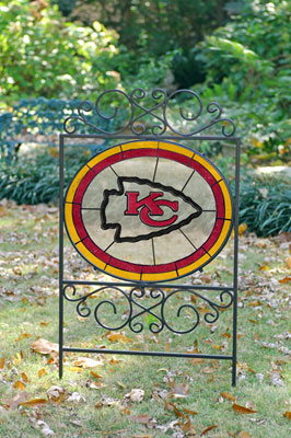 Kansas City Chiefs Nfl Stained Glass Outdoor Yard Sign