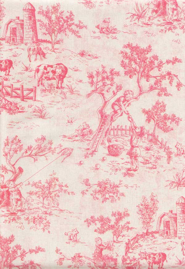 Isabella Pink Fabric By The Yard - Toile