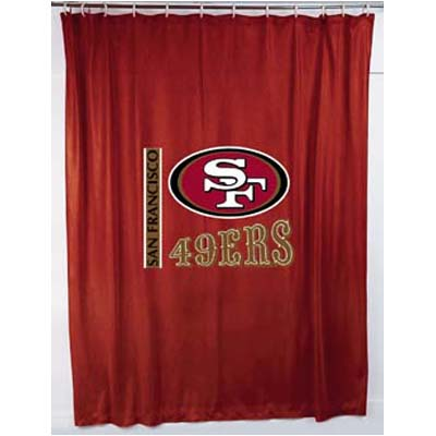 San Francisco 49ers Locker Room Shower Curtain
