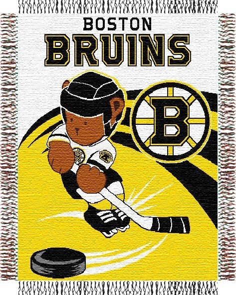 Boston bruins nhl baby 36 x 46 triple woven jacquard throw Bruins room decor