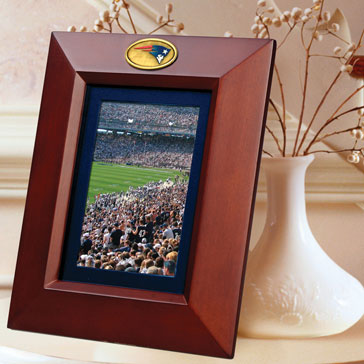 New England Patriots Nfl 10 Quot X 8 Quot Brown Vertical Picture Frame