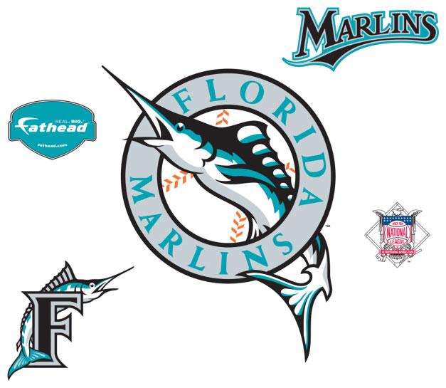 Florida Marlins Logo Fathead Mlb Wall Graphic