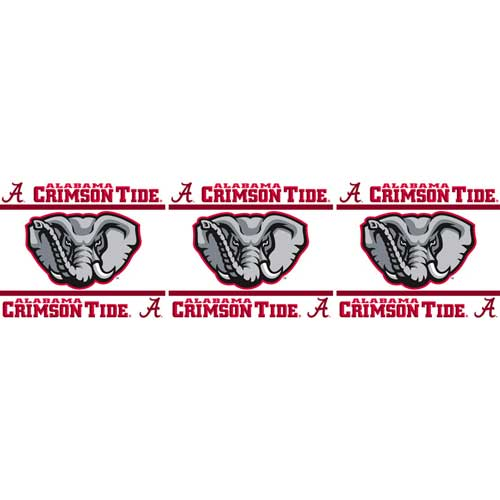 Alabama Crimson Tide Peel And Stick Wall Border