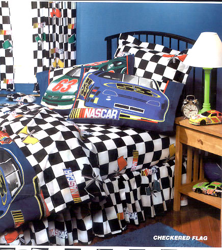 Nascar Checkered Flag Twin Sheet Set