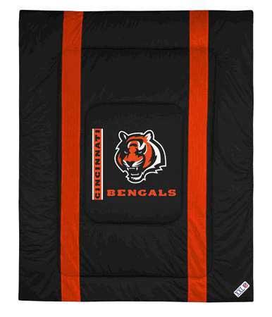 Cincinnati bengals side lines comforter for Bengals bedroom ideas