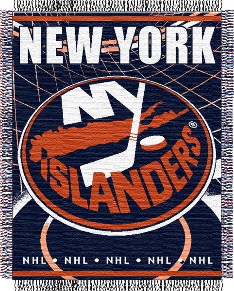 "New York Islanders Wallpaper: New York Islanders NHL 48"" X 60"" Triple Woven Jacquard Throw"