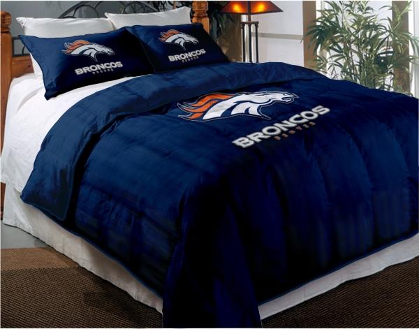 Denver Broncos Nfl Twin Chenille Embroidered Comforter Set