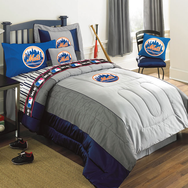 New York Mets Mlb Authentic Team Jersey Bedding Queen