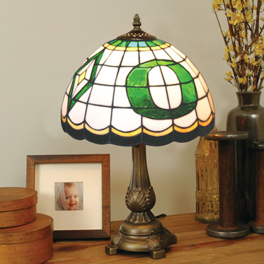 Oregon Ducks Ncaa College Stained Glass Tiffany Table Lamp