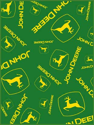 John Deere Multi Logo 60 Quot X 80 Quot Classic Collection Blanket